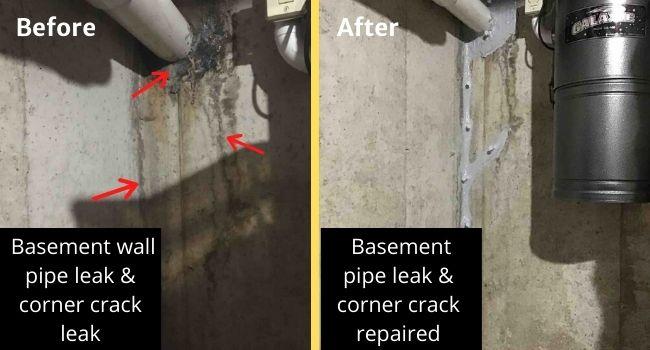 basement-wall-pipe-leak